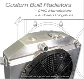 auto radiators, aluminum radiators, custom aluminum racing radiators, custom aluminum race car radiators, corvette radiator